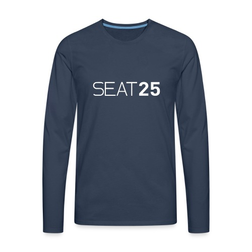 Seat25 Logo Light - Men's Premium Longsleeve Shirt