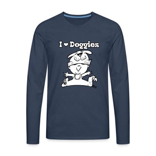 baby i love doggies - Mannen Premium shirt met lange mouwen