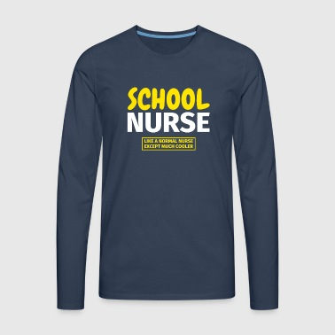 school nurse - Men's Premium Longsleeve Shirt