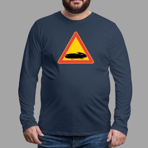 Traffic sign velomobile - Miesten premium pitkähihainen t-paita