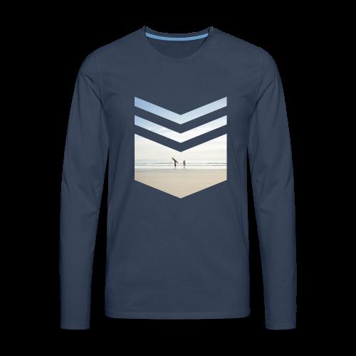 Surfing Beach - Männer Premium Langarmshirt