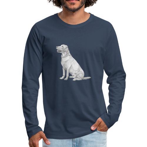 labrador Retriever Gul - Herre premium T-shirt med lange ærmer