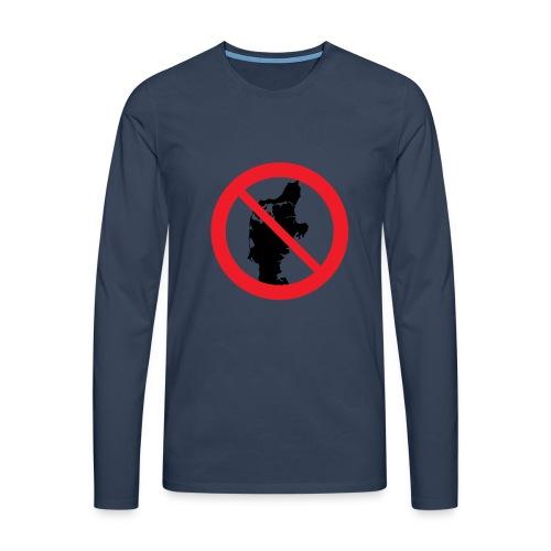 Jylland forbudt - Herre premium T-shirt med lange ærmer
