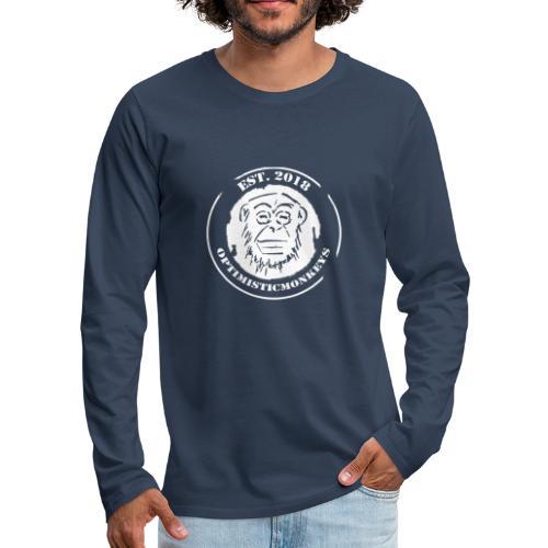 Caps Logo Opti Monki White Edition - Männer Premium Langarmshirt