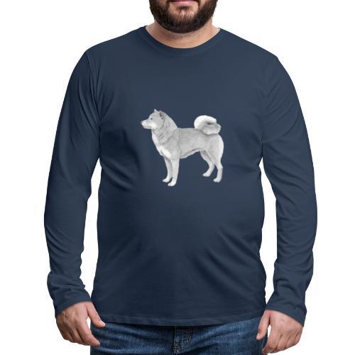 shiba inu - Herre premium T-shirt med lange ærmer