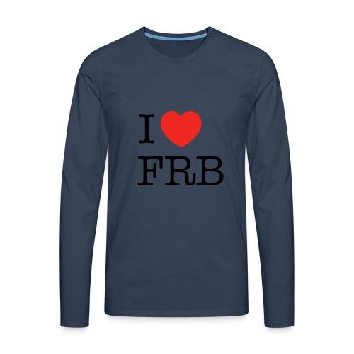 I Love FRB - Bestsellere - Herre premium T-shirt med lange ærmer