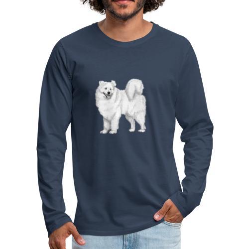 samoyed - Herre premium T-shirt med lange ærmer