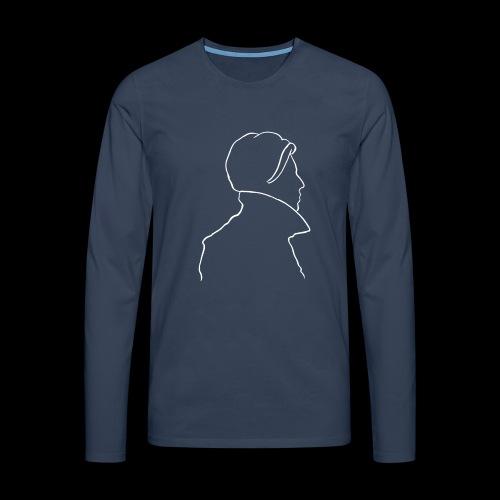 David Bowie Low (white) - Men's Premium Longsleeve Shirt