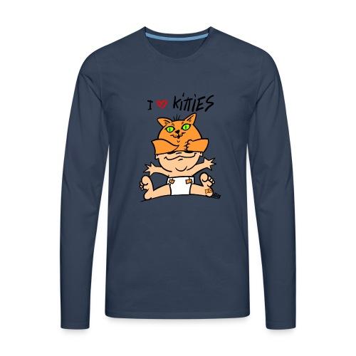 baby i love kitties color - Mannen Premium shirt met lange mouwen