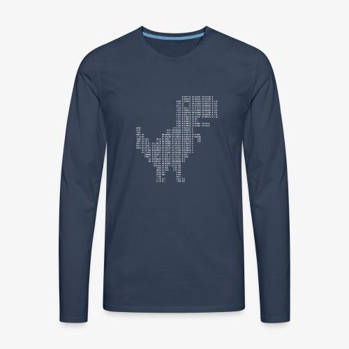 Google dinosaur | Dinosaur Binary | Dino | 404 - Men's Premium Longsleeve Shirt