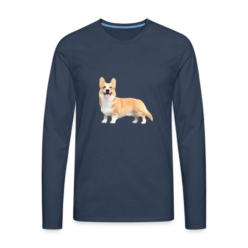 Topi the Corgi - Sideview - Men's Premium Longsleeve Shirt