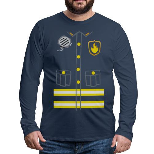 Fireman Costume - Dark edition - Men's Premium Longsleeve Shirt