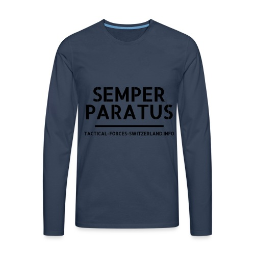 Semper Paratus noir - T-shirt manches longues Premium Homme
