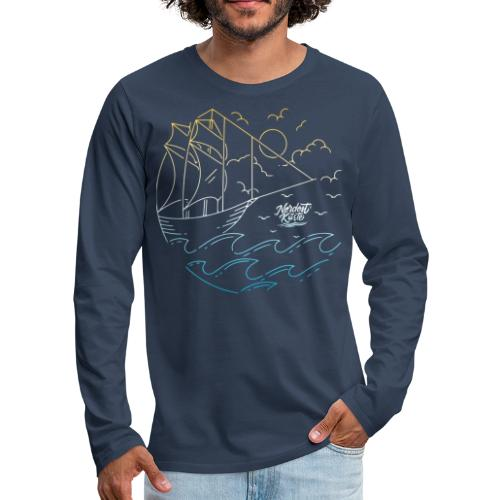 Schiff mit Sonne und Meer - Männer Premium Langarmshirt