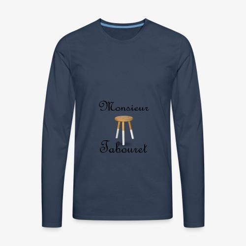 Monsieur Tabouret (Noir) - T-shirt manches longues Premium Homme