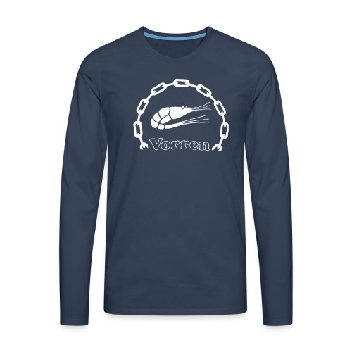 Vorren Logo CLASSIC [White] - Långärmad premium-T-shirt herr
