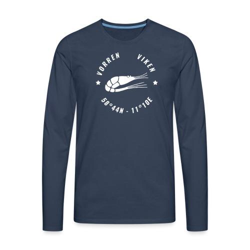 Vorren Logo MODERN [White] - Långärmad premium-T-shirt herr