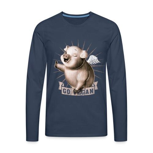 Go Vegan - T-shirt manches longues Premium Homme