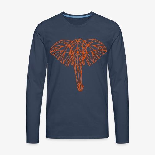 elephant - Maglietta Premium a manica lunga da uomo