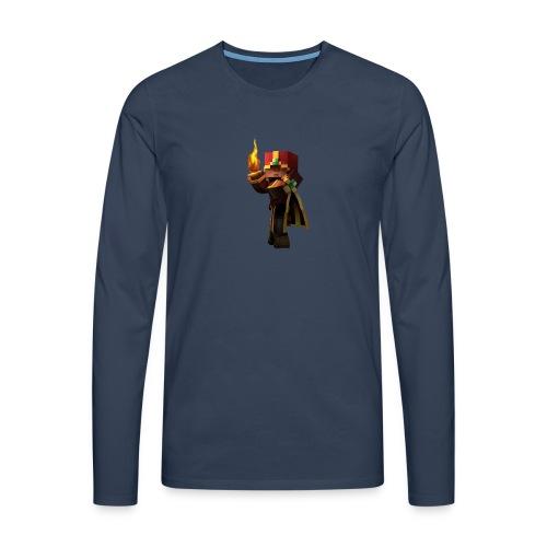 MineKnight BackPack BP - Långärmad premium-T-shirt herr