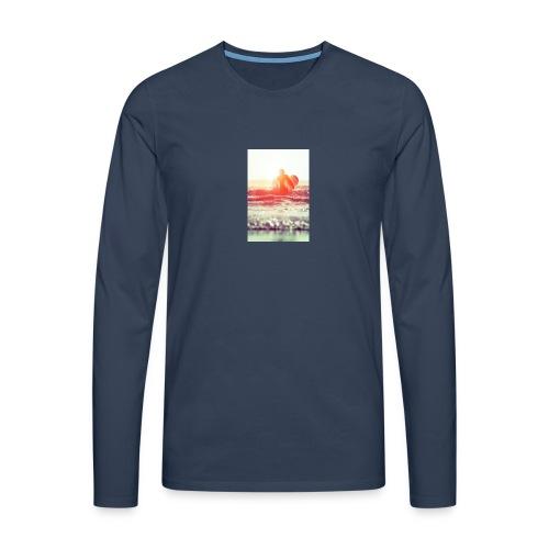 sunset surf jpg - Men's Premium Longsleeve Shirt