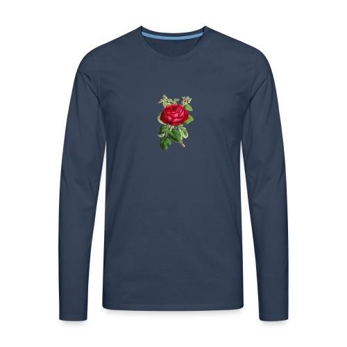 Fin ros - Långärmad premium-T-shirt herr