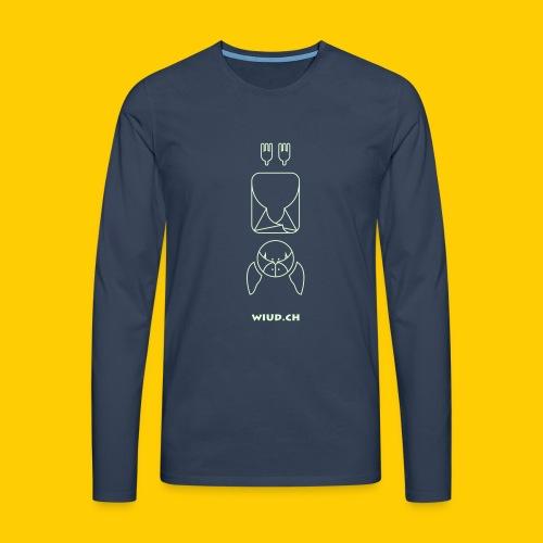 w line bat - Männer Premium Langarmshirt