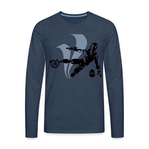 Football Robot - Maglietta Premium a manica lunga da uomo