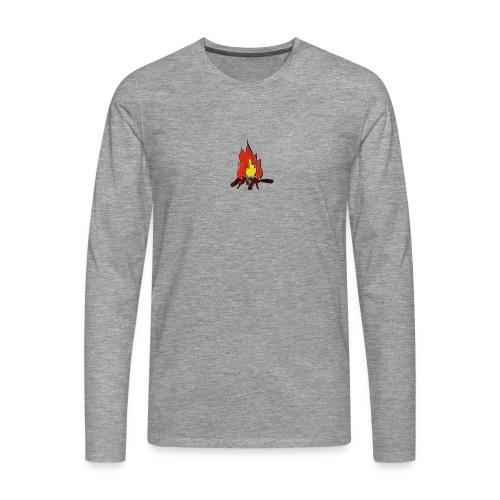 Fire color fuoco - Maglietta Premium a manica lunga da uomo