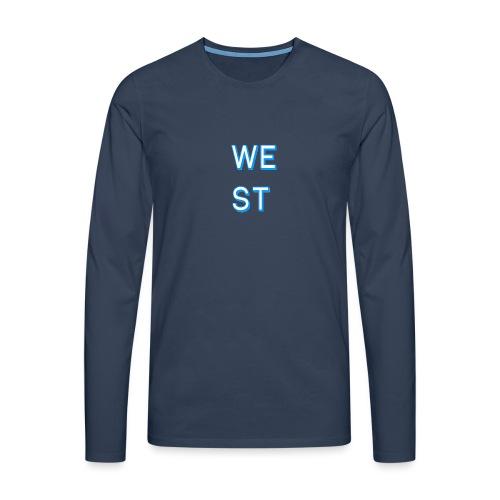 WEST LOGO - Maglietta Premium a manica lunga da uomo