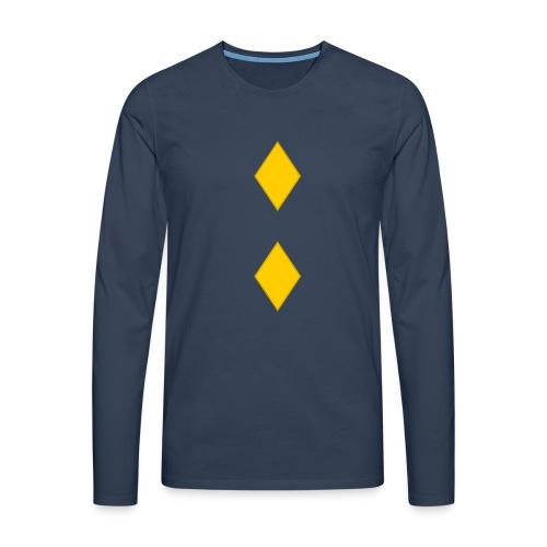 Upseerikokelas - Miesten premium pitkähihainen t-paita