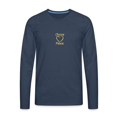 Choose Peace - Men's Premium Longsleeve Shirt