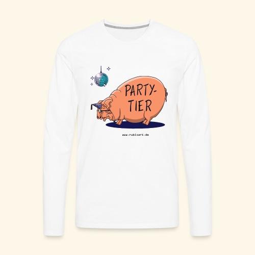 Partytier Schwein Fete Feier Party Sau - Männer Premium Langarmshirt