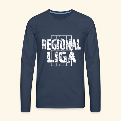 REGIONALLIGA im Fußballfeld - Männer Premium Langarmshirt