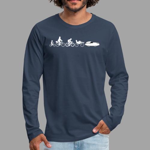 Bicycle evolution white Quattrovelo - Miesten premium pitkähihainen t-paita