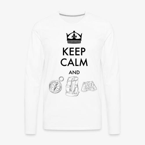 keepcalmandexplore - Men's Premium Longsleeve Shirt
