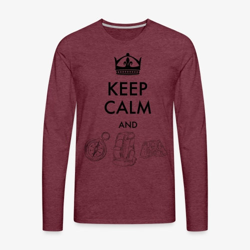 keepcalmandexplore - Men's Premium Longsleeve Shirt