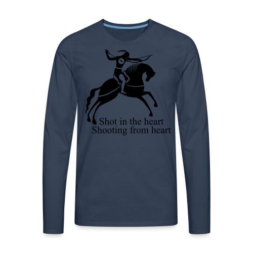 Shot in the Heart - Men's Premium Longsleeve Shirt