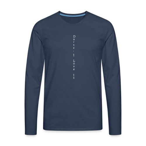 darts_i_love_it_weiss_v - Männer Premium Langarmshirt