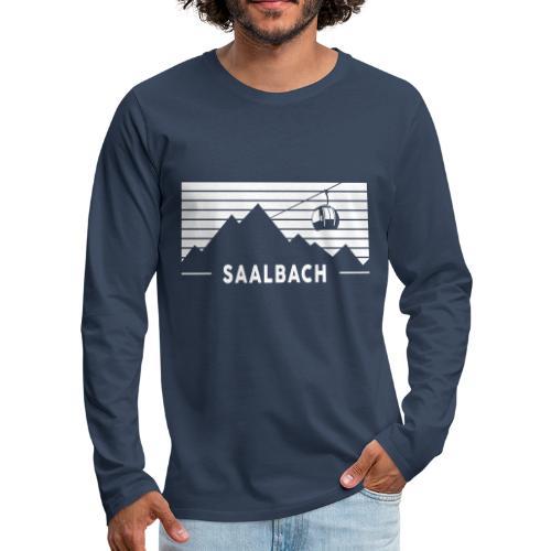 Saalbach Stripes - Mannen Premium shirt met lange mouwen