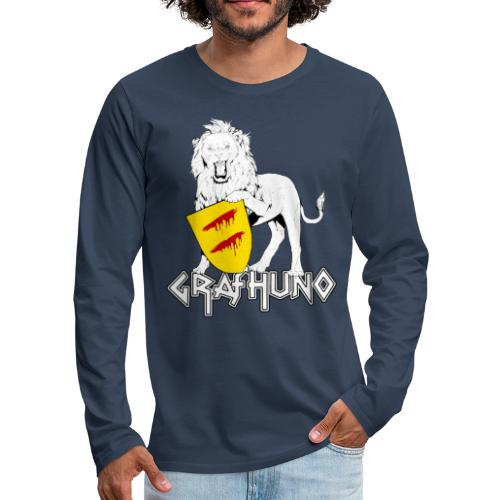 Ostfriesland Häuptlinge Graf Huno von Rastede - Männer Premium Langarmshirt