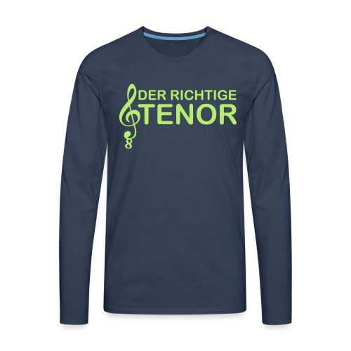 Tenor Vektor - Männer Premium Langarmshirt