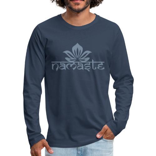 Namaste Lotus Yoga Motiv in Trendfarben MEGA - Männer Premium Langarmshirt