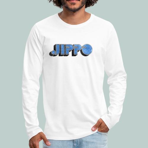 JIPPO LOGO (blue) - Miesten premium pitkähihainen t-paita