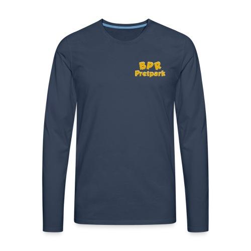 BPR Pretpark borstlogo - Mannen Premium shirt met lange mouwen