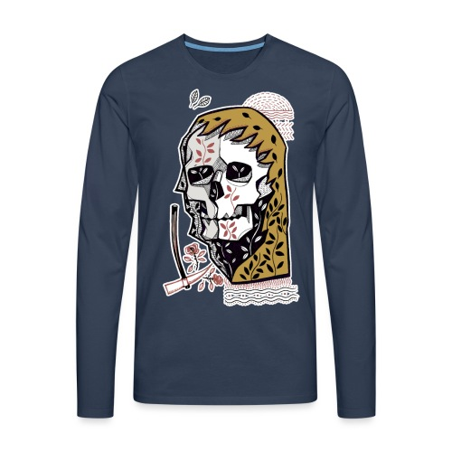 skull - Maglietta Premium a manica lunga da uomo