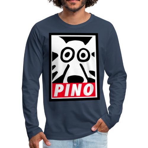Pino Volpino OBEY style - Maglietta Premium a manica lunga da uomo