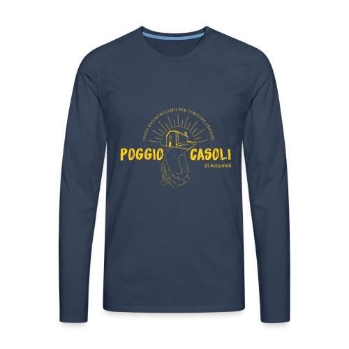 Poggio Casoli_Istituzionale_Giallo - Maglietta Premium a manica lunga da uomo