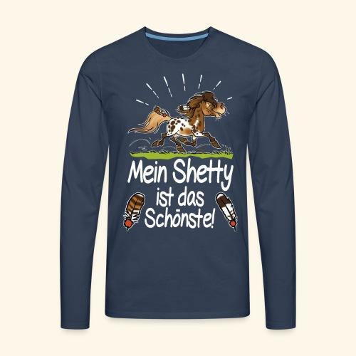 Mein Shetty das Schönste (Text weiss) - T-shirt manches longues Premium Homme