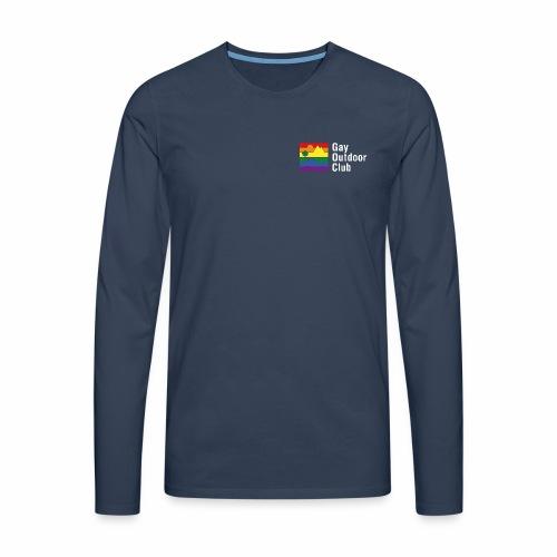 GOC Logo White Text - Men's Premium Longsleeve Shirt